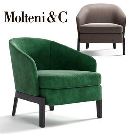 MOLTENI&C CHELSEA Armchair 3d model Download  Buy 3dbrute