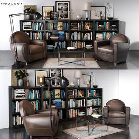 Neology Livingroom set 02 3d model Download  Buy 3dbrute