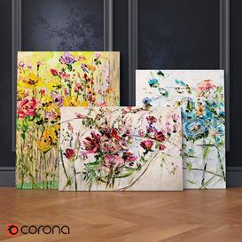 Oil Paintings  Set number 1 3d model Download  Buy 3dbrute