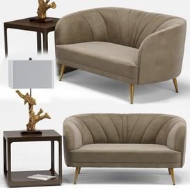 Leone sofa set 3d model Download  Buy 3dbrute