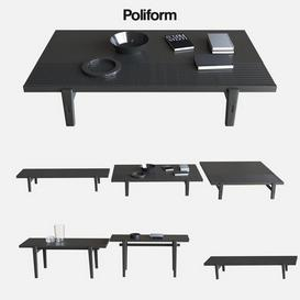 POLIFORM COFFEE TABLES HOME HOTEL 3d model Download  Buy 3dbrute