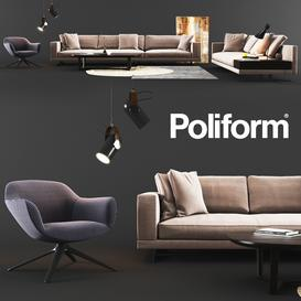 Poliform Set 03 3d model Download  Buy 3dbrute