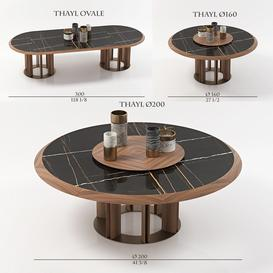 porada table THAYL 3 items 3d model Download  Buy 3dbrute