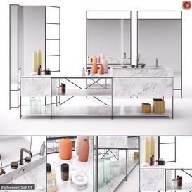 R I G Modules - Bathroom with Decor Set 01 3d model Download  Buy 3dbrute