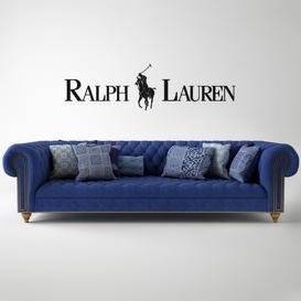 Ralph Lauren Home Indigo chesterfield sofa 3d model Download  Buy 3dbrute