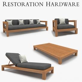 Restoration Hardware - Cordoba Collection 3d model Download  Buy 3dbrute