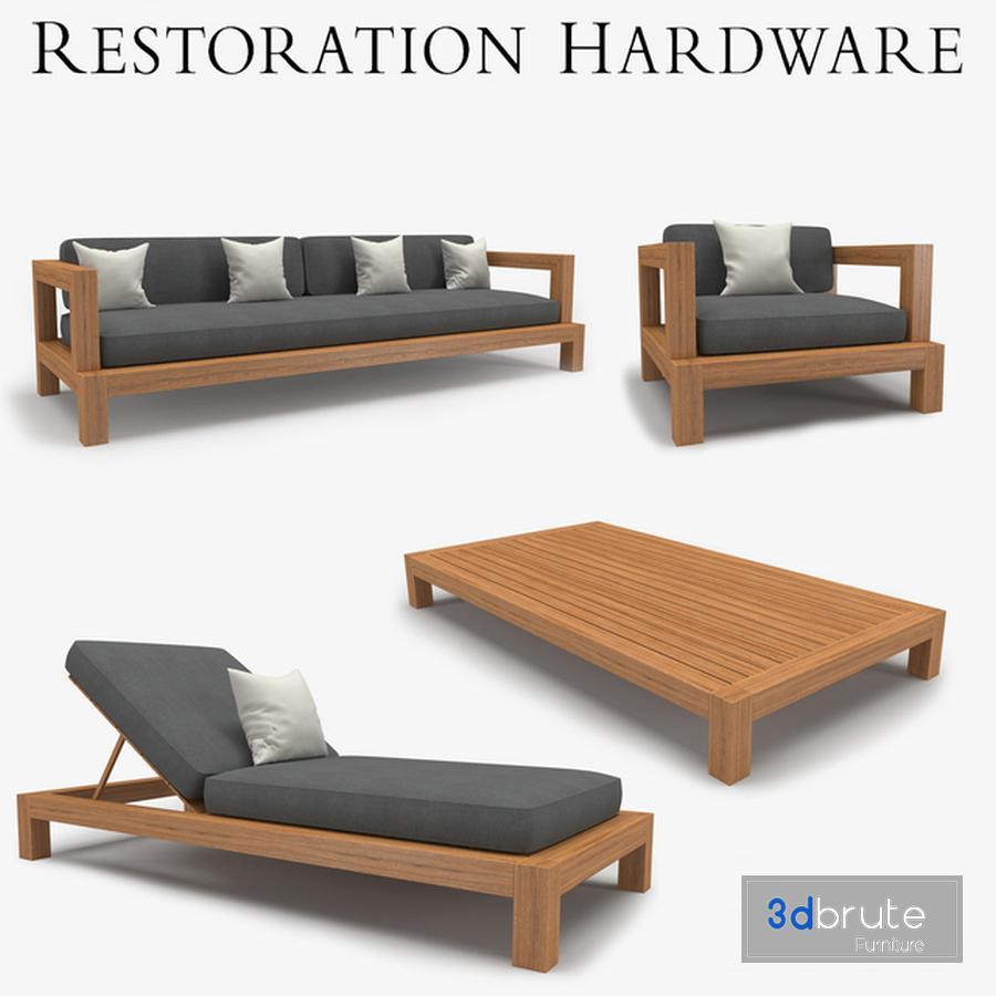- Restoration Hardware - Cordoba Collection 3d Model Buy Download