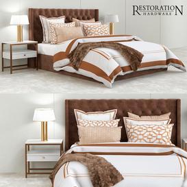 Restoration hardware gold bedroom 3d model Download  Buy 3dbrute