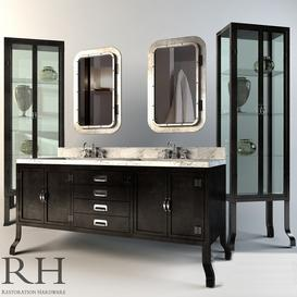 Restoration Hardware Pharmacy Collection Black 3d model Download  Buy 3dbrute