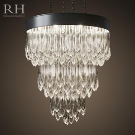 RH TEARDROP GLASS CHANDELIER 43 3d model Download  Buy 3dbrute