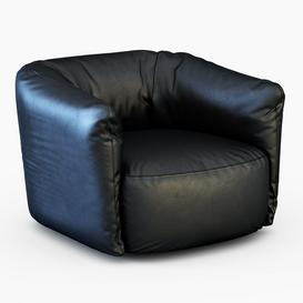 Santa Monica Leather Swivel Armchair Poliform 3d model Download  Buy 3dbrute
