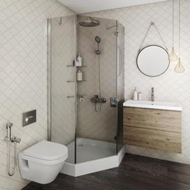 set bathroom 3 3d model Download  Buy 3dbrute