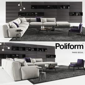 Set from Poliform Paris 3d model Download  Buy 3dbrute
