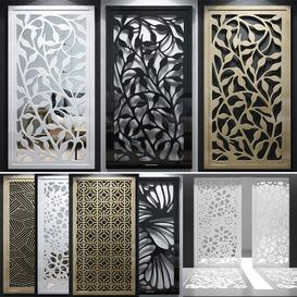 Set of decorative panels-02 3d model Download  Buy 3dbrute