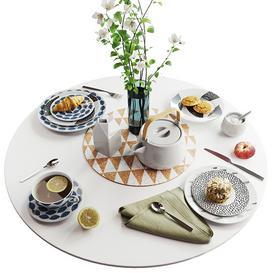 Set of dishes in Scandinavian style 3d model Download  Buy 3dbrute