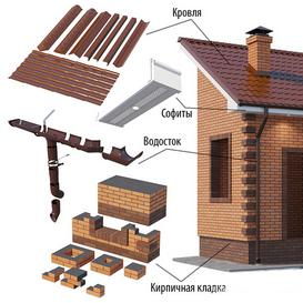 Set of elements for creating a brick house 3d model Download  Buy 3dbrute