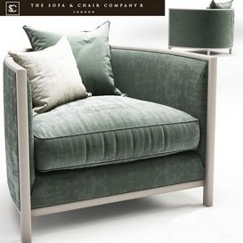 Sophia armchair_The sofa and chair company 3d model Download  Buy 3dbrute