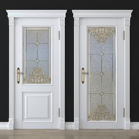 Stained glass door 25 3d model Download  Buy 3dbrute