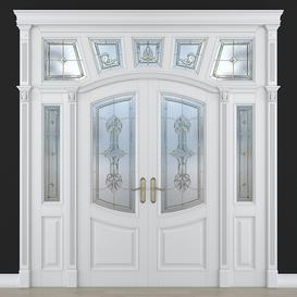 Stained glass door 28 3d model Download  Buy 3dbrute