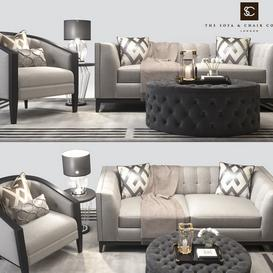 The Sofa and Chair company living furniture set 3d model Download  Buy 3dbrute