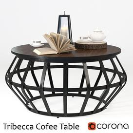 Tribecca Metall Frame Round Cofee Table 3d model Download  Buy 3dbrute