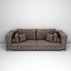 velvet sofa LT 3d model Download  Buy 3dbrute