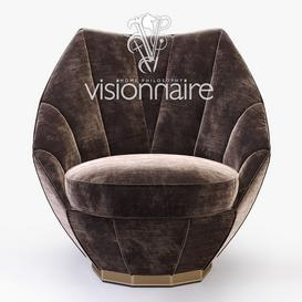 Visionnaire-Sontag-armchair 3d model Download  Buy 3dbrute