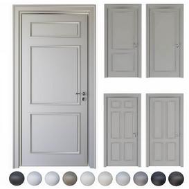 Volhovec-Doors-collection-Paris-set 2 3d model Download  Buy 3dbrute