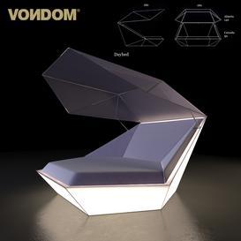 Vondom - Faz Daybed Parasol 3d model Download  Buy 3dbrute