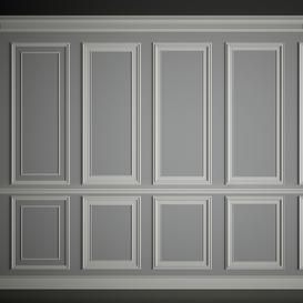 Wall moldings 3d model Download  Buy 3dbrute