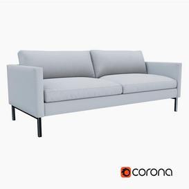 West Elm High Line Upholstered Sofa 3d model Download  Buy 3dbrute