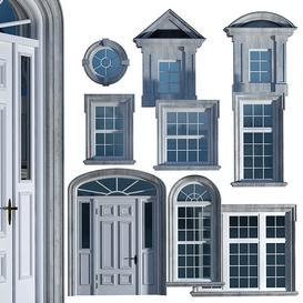 Windows and doors in the style of English classics 3d model Download  Buy 3dbrute