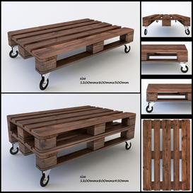 Wooden pallets table 3d model Download  Buy 3dbrute