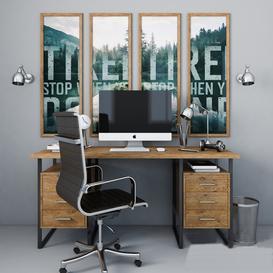 Workplace 3d model Download  Buy 3dbrute