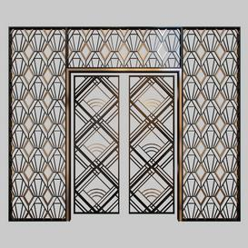 Wrought iron grille at the front door 3d model Download  Buy 3dbrute