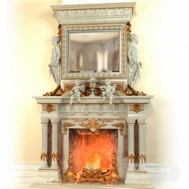 Fireplace F3 3d model Download  Buy 3dbrute