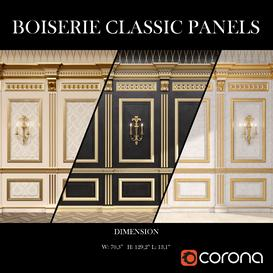 Boiserie classic panels 3d model Download  Buy 3dbrute