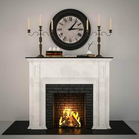 Fireplace F4 3d model Download  Buy 3dbrute