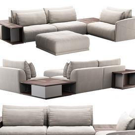 Natuzzi Long Beach Sofa 3d model Download  Buy 3dbrute