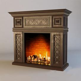 Fireplace F6 3d model Download  Buy 3dbrute