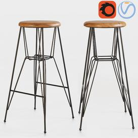 Riva 1920 Ello   Ello bar chair 3d model Download  Buy 3dbrute