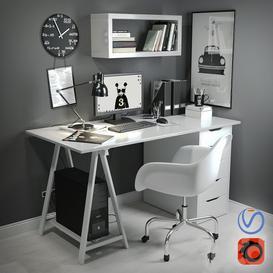 workplace 3 3d model Download  Buy 3dbrute