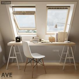 AVE mansard VELUX windows 3d model Download  Buy 3dbrute