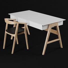chair john-table Orient 3d model Download  Buy 3dbrute
