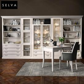 Selva bookcase Mirabeau set sections01 3d model Download  Buy 3dbrute