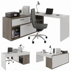 Office desk 3d model Download  Buy 3dbrute
