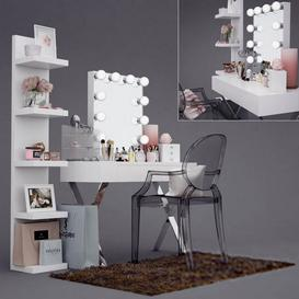 Dressing table M13 3d model Download  Buy 3dbrute