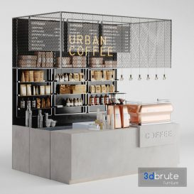 Coffeeshop 3d model Download  Buy 3dbrute