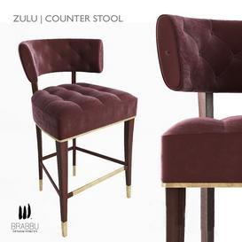 Brabbu - Zulu Counter Stool 3d model Download  Buy 3dbrute