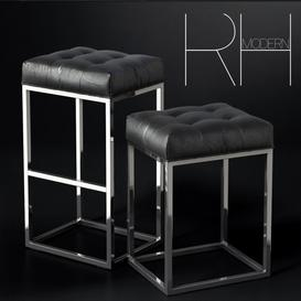 REESE TUFTED LEATHER STOOL MAX 3d model Download  Buy 3dbrute